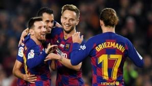 """Барселона 1:0 Майорка, Меси показа """"Златната топка"""" на """"Камп Ноу"""""""