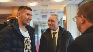 Христо Стоичков се срещна с български национал в Унгария