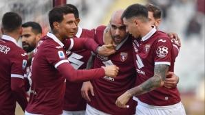 Торино най-после дочака победа над Фиорентина (видео)