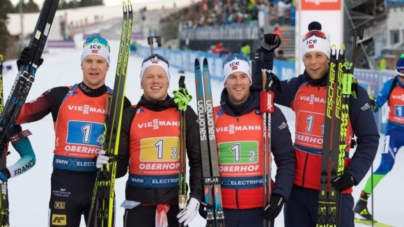 Норвегия спечели щафетата на 7.5 км, българите бяха затворени с обиколка