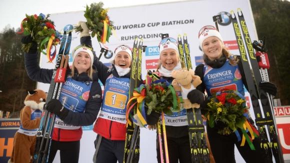Норвегия с нова победа в щафетата на 4 по 6 км от Световната купа, България - 21-а в Руполдинг