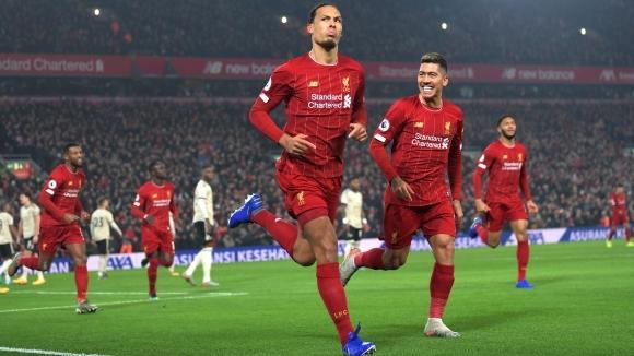 Победната серия на Ливърпул мина и през Манчестър Юнайтед (видео)