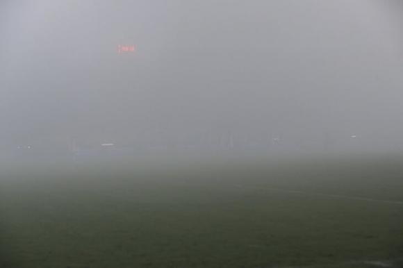Гъста мъгла прекъсна мач в Нидерландия