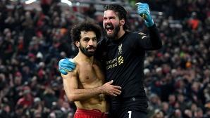 Салах с първи гол срещу Ман Юнайтед, Ливърпул подобри рекорд на Ман Сити и Байерн