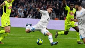 """Марсилия """"спука гуми"""" срещу Анже (видео)"""