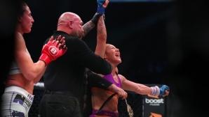 Крис Сайборг нокаутира Джулия Бъд и пак е шампионка, но в Bellator (видео + снимки)