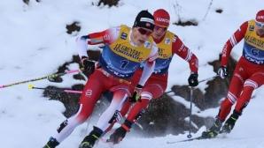 Йоханес Клаебо и Наталия Непряева спечелиха спринтовете в Оберстдорф
