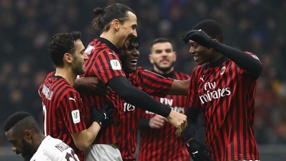 Милан беше на секунди от провал, но стигна до полуфинал с Юве