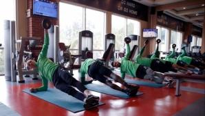 Лудогорец тренира във фитнеса