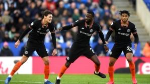 Два гола с глава на Рюдигер осигуриха точка на Челси срещу Лестър (видео)