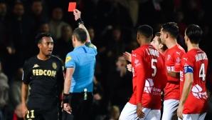 Два червени картона помогнаха на Ним да сломи Монако