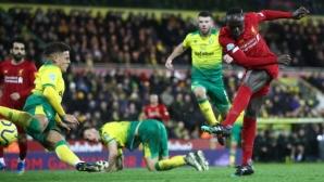 Садио Мане се завърна с победен гол за Ливърпул