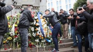 Отборът на Левски почете паметта на Апостола (видео+снимки)