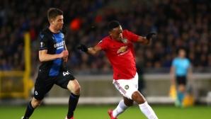 Брюж 1:0 Манчестър Юнайтед след нелепа грешка на Ромеро (гледайте тук)
