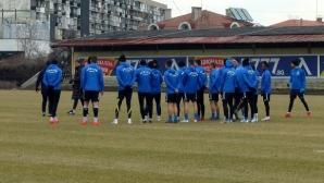 Левски с последна тренировка преди мача с Черно море (видео)