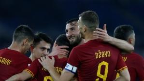 """Рома се върна към победите в Серия """"А"""" с бой над Лече (видео)"""