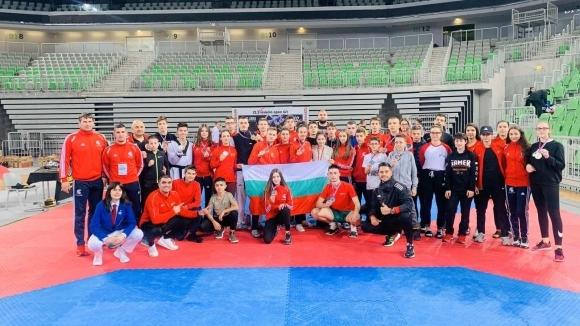 Българските национали в олимпийското таекуондо с 15 медала на силен турнир...