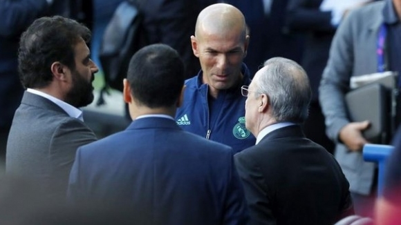Перес посети лагера на Реал Мадрид преди мача с Манчестър Сити