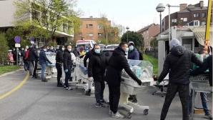 Най-известната ултрас групировка в Хърватия впрегна сили, за да помогне на Загреб след земетресението