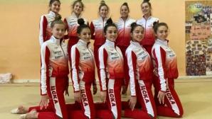 Женският отбор на ЦСКА по естетическа гимнастика не спира да се забавлява и в изолация