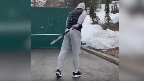 Роджър и другите - време е за тенис трикове (видео)