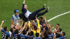 Световният шампион Франция изрази подкрепата си към лекарите и медицинските работници