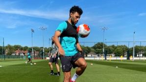 Ливърпул показа как се тренира в извънредни условия