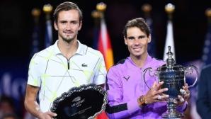 Надал - Медведев от 2019 оглавяват днешната тенис вечер