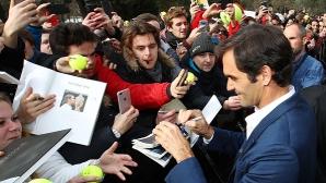 Федерер: Надявам се никога да не играя на празен стадион
