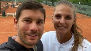 Дани Валверду вече тренира с Каролина Плишкова