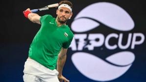 Григор Димитров дебютира на World Team Tennis пред публика