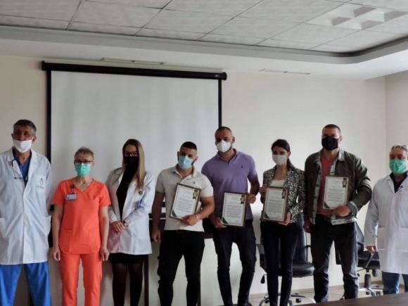 Тервел Пулев получи грамота за доброволческата си дейност