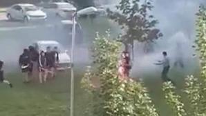 Фенове на Партизан и Динамо (З) се биха във Вуковар (видео)