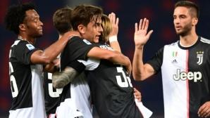 Атакуващото трио на Ювентус донесе победа над Болоня (видео)