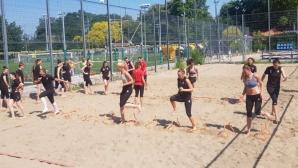 Националките проведоха тренировка на плажните игрища до Гребната база
