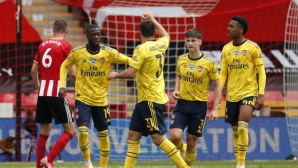 Арсенал е на полуфиналите след гол в добавеното време (видео)
