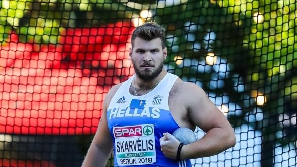 Скарвелис подобри националния рекорд на Гърция в тласкането на гюле