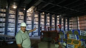 Любо Ганев впечатлен от строежа на залата на Левски София
