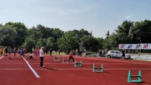 """""""Атлетика за младежи"""" на новата атлетическа писта в Сандански"""