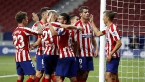 """Лесна победа за Атлетико, ВАР отново помогна на """"дюшекчиите"""" (видео)"""