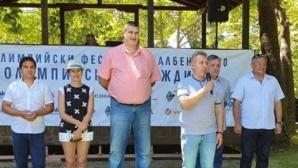 Любо Ганев на откриването на олимпийския фестивал в Албена