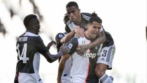 Ювентус донесе радост на рекордьора Буфон, Роналдо с дългочакан гол (видео)
