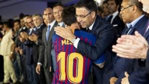 Меси ще завърши кариерата си в Барселона, увери Бартомеу