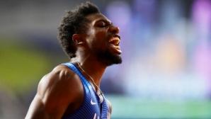 Ноа Лайлс с 18.90 секунди…, но на 185 метра