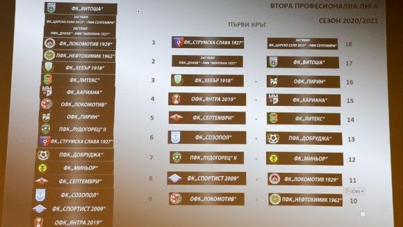 Дерби още в първия кръг на Втора лига