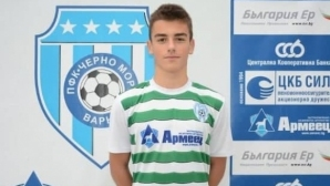 Никoлaй Злaтeв стана най-младият дебютант в Черно море