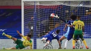 Икономична победа утвърди Челси в топ 4 на Премиър лийг (видео)