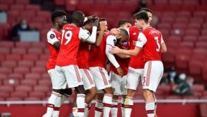 Съставите на Арсенал и Ливърпул, Обамеянг е на пейката