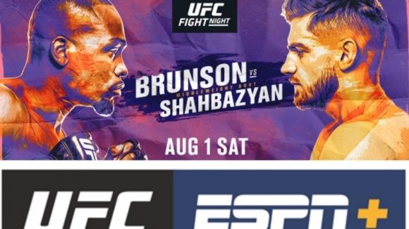 Бойна карта преди UFC Fight Night: Брънсън срещу Шахбазян