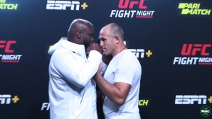 Бойците от UFC Vegas 6 лице в лице преди битките (видео)